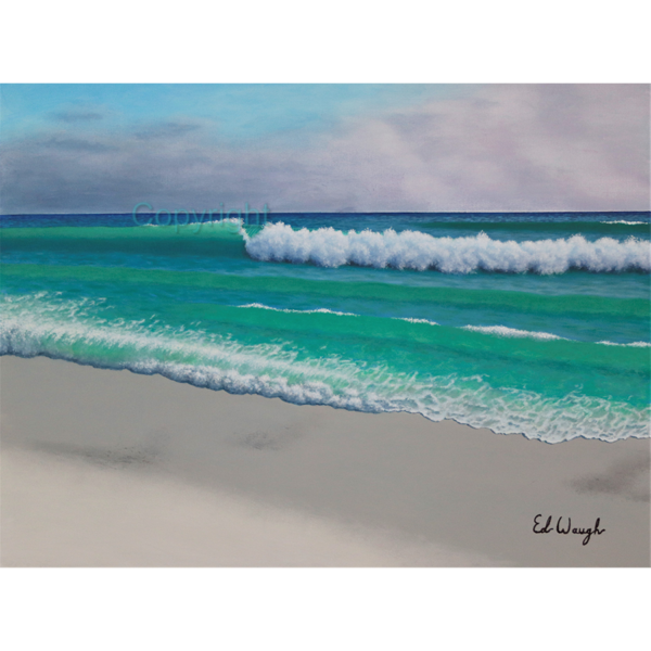 Emerald Shores ��� 30��� x 40��� Acrylic Painting, on Stretched Gallery Wrapped Canvas