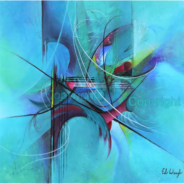 Smooth Jazz. AcryliPainting - 36x36 Abstract