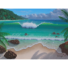 Paradise Island ��� Acrylic Painting on Stretched Gallery Wrapped Canvas
