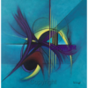 Interaction - An Abstract Original Painting by Artist Ed Waugh